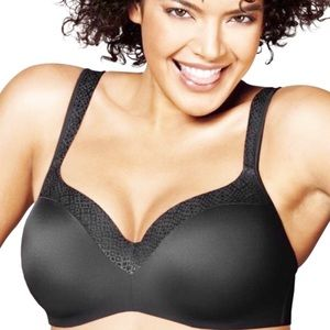 Playtex Secrets Bra 40DDD Black NWT